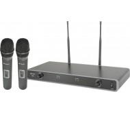 NU2 UHF belaidė mikrofonų sistema 863.8MHz + 864.8MHz