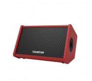 OPS-25 nešiojama garso kolonėlė su akumuliatoriumi, mikrofonu ir dėklu, 24Wrms, 2 x 6.5'' - raudona