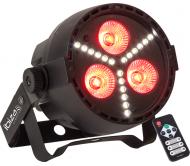 PAR-MINI-STR prožektorius 3 x 4W RGBW LED PAR su 18x 0.5W SMD LED stroboskopu