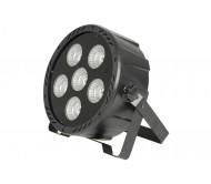 PAR184 didelio galingumo 6 x 30W RGBW COB LED prožektorius