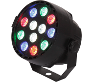 PARBAT-RGBW prožektorius su akumuliatoriumi PAR CAN 12x1W RGBW LED