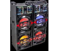 PARTY-BOX410 stereo garso sistema DJ su LED garsiakalbių apšvietimu ir USB/TF/AUX/Bluetooth grotuvu, 4 x 10′′