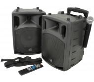 PAV8-UHF stereo garso sistema su akumuliatoriumi + 2x UHF mikr., Bluetooth, DVD