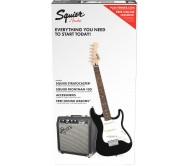 PK STRAT SS SQ10G BLK elektrinės gitaros komplektas