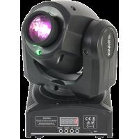 PLUTON10-LZR šviesos efektas judančia galva su lazeriniu gobos, 35W LED + 30mW žalias lazeris