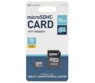 PLY0133 atminties kortelė microSDHC + adapteris, 16GB 10 klasė