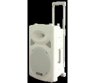 """PORT12UHF-BT-WHgarso sistema su akumuliatoriumi ir 2x UHF mikrofonais, MP3 USB/WMA/BLUETOOTH, 12"""""""