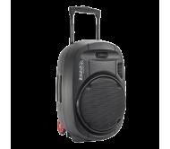 PORT15UHF-MKII nešiojama garso sistema su akumuliatoriumi + 2x UHF belaidžiai mikrofonai, USB/SD/AUX/Bluetooth, 15''/38cm