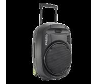 PORT15VHF-MKII nešiojama garso sistema su akumuliatoriumi + 2x VHF belaidžiai mikrofonai, USB/SD/AUX/Bluetooth, 15′′/38cm