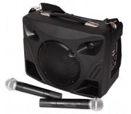 PORT85VHF-BT nešiojama garso sistema, USB/MP3/SD, 2x VHF belaidžiai mikrofonai