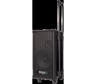 PORT8MINI nešiojama karaoke garso sistema su akumuliatoriumi, 2x mikrofonais, CD/USB/MP3 grotuvu