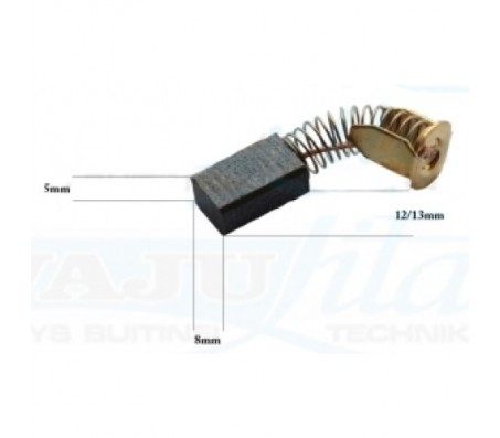 PTCB003 anglinis šepetėlis 5x8x12/13 MAKITA obliavimo staklėms, perforatoriams, profiliavimo staklėms (trimeriams)