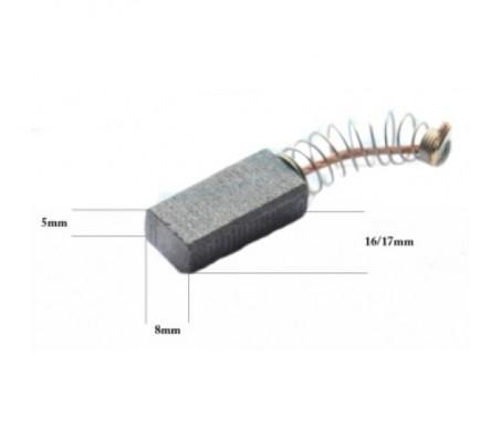 PTCB014 anglinis šepetėlis 5x8x16/17 BOSCH gręžtuvams, smūginiams gręžtuvams, obliavimo prietaisams, atsuktuvams