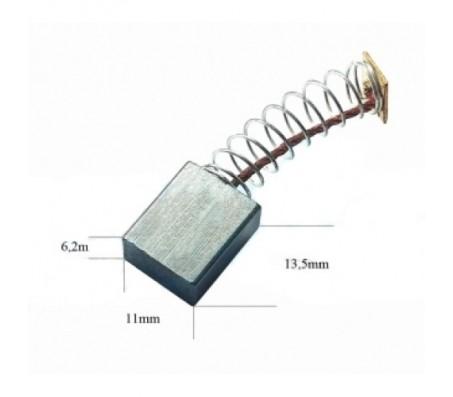 PTCB073 anglinis šepetėlis 6,2x11x13,5 INTERKERN šlifuokliams, pjūklams, akmens poliruokliams