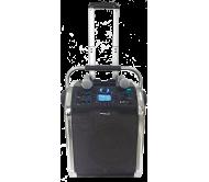 PWA120 garso sistema su akumuliatoriumi ir 2x VHF belaidžiais mikrofonais, Bluetooth/USB/SD/FM/AUX, 50W 10′′/25cm