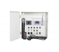 SA180 sieninis užrakinamas stiprintuvas su mikšeriu, Bluetooth/USB/SD grotuvu ir belaidžiu UHF mikrofonu