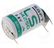 SAFT-LS14250PF ličio baterija 3.6V; 1.2AA; 3pin. 1100mAh