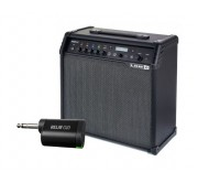 SPIDV60G10TEU stiprintuvas el. gitarai + siųstuvas belaidžiam perdavimui