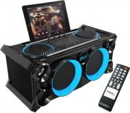 SPLBOX200-BK nešiojama audio sistema USB/SD/BT/FM/REC/LED
