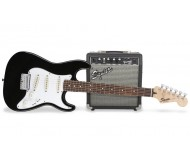 SQ10G STRAT PACK SS BLK elektrinės gitaros komplektas