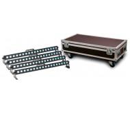 STAIRVILLE SHOW BAR TRI LED 18x3W RGB šv.efektai 4 vnt. Su dėže