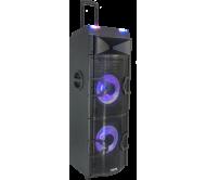 "STANDUP-PRODJ garso sistema 2x 12"" 1000W su DJ media grotuvu, USB/Bluetooth, pašvietimu"