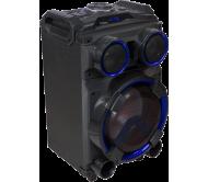 STANDUP12 nešiojama garso sistema su akumuliatoriumi ir LED šviesos efektu, USB/SD/AUX/FM/Bluetooth, 12′′