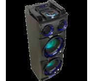 STANDUP208 garso sistema su akumuliatoriumi ir LED apšvietimu, USB/SD/BT/FM grotuvu, 2x8′′