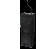 STANUP212 aktyvi įkraunama garso sistema su DJ mikšeriu, SD/USB/CD grotuvu, 240W, 2x15
