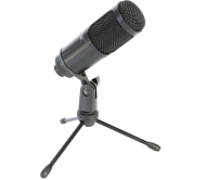 STM100 USB mikrofonas su stovu media transliacijoms