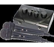 TV-STATION karaoke mikšeris su 2x rankiniais mikrofonais