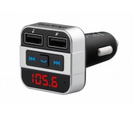 URZ0468 FM siųstuvas su laisvų rankų įranga Bluetooth/MP3/2x USB