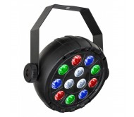 USB PAR prožektorius 12x 1W (R+G+B+W) LED, maitinamas per USB-C