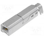 USBB-W kištukas lituojamas USB B
