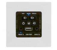 WALLAMP-USB sieninis stiprintuvas su USB grotuvu, D klasė, 2x 30W 4omų
