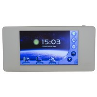 WALLAMPpad sieninis stiprintuvas 2x 20W su lietimui jautriu ekranu, SD/Bluetooth/AUX/DLNA/Airplay