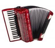 WELTMEISTER Topas 37/96/IV/11/5 akordeonas - raudonas