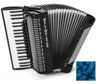 Weltmeister SAPHIR 41/120/IV/11/5 akordeonas 120 bosų su dėklu - mėlynas