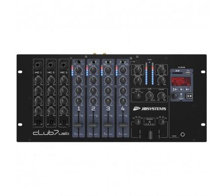 CLUB7-USB mikšeris DJ su USB/SD grotuvu