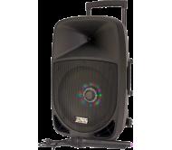 PARTY-12LED nešiojama garso sistema su akumuliatoriumi ir šv. efektu, Bluetooth/USB/FM, 12''/30cm 700W