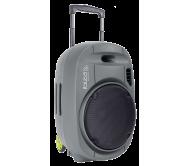PORT12VHF-GR-MKII nešiojama garso sistema su akumuliatoriumi + 2x VHF belaidžiai mikrofonai, USB/SD/AUX/Bluetooth, 12''/30cm