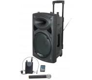 """PORT15VHF-BT garso sistema su akumuliatoriumi ir belaidžiais VHF mikrofonais, USB/BT/REC 450Wrms 15"""""""