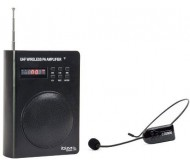 PORT3-UHF kompaktiška gido sistema su akumuliatoriumi ir belaidžiu UHF mikrofonu-lankeliu, USB/SD/FM/AUX/BT grotuvu, 40Wmax, 3.5''