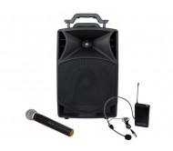 PPA-101 garso sistema su akumuliatoriumi ir belaidžiais mikrofonais 50W RMS USB/FM/Bluetooth, 10''